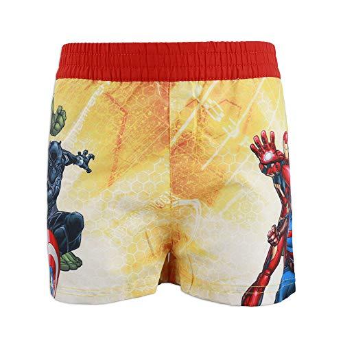 Marvel Avengers - Costume da Bagno Pantaloncino Boxer Mare Piscina - Bambino - Prodotto Originale con Licenza Ufficiale [1757 Rosso - 8 A - 128 cm]