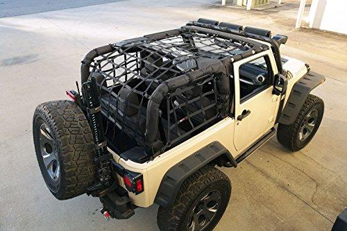 Rugged Ridge 13552.70 Cargo Net, Black; 07-18 Jeep Wrangler JK, 2 Door