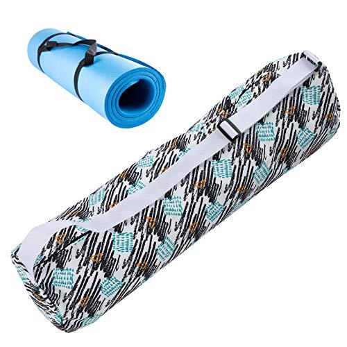 Snufeve6 Mochila de Yoga, Bandolera de Yoga, Cabezas de tracción Dobles al Aire Libre para el hogar del cojín de Yoga de la Estera de Yoga