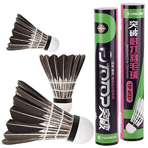 Hanks' Shop Badminton Schwarz Gänsefeder Material professionelle Athleten Ausbildung Badminton 12