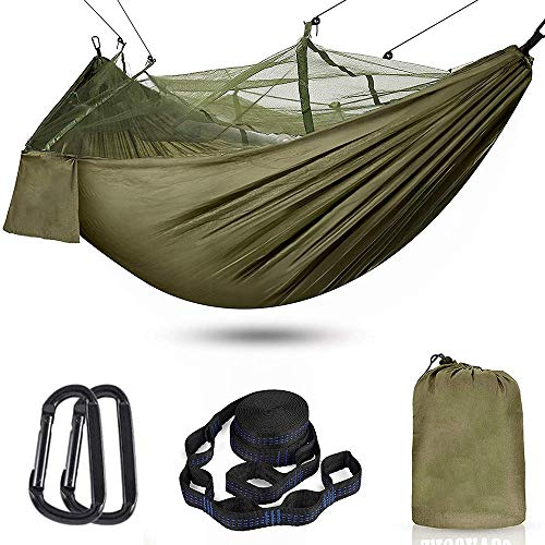 NNuodekeU Camping Hammock with Mosquito Net - Outdoor Travel Hammock for Camping Hiking Backpacking