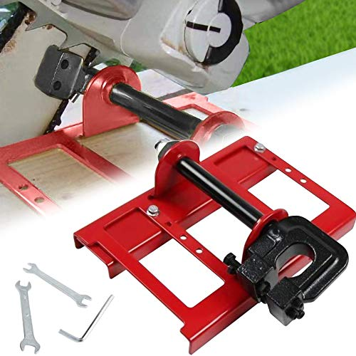 SEAAN Guía de Motosierra portátil, Mini guía de amoladora de motosierras, contiene 1 amoladora eléctrica 1 juego de herramientas de ensamblaje