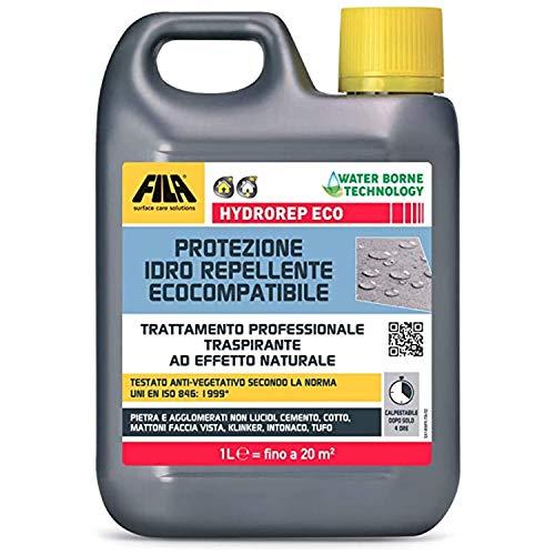 Fila Hydrorep Eco 1 litro hidrófugo para piedra transpirable de efecto natural impide el crecimiento de algas, moho y líquenes y protege de la degradación causada por los agentes atmosféricos.