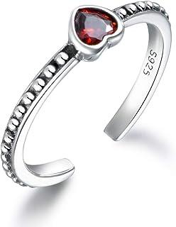 60dbb1c648c4 Amazon.es  anillos con corazones - 4 estrellas y más