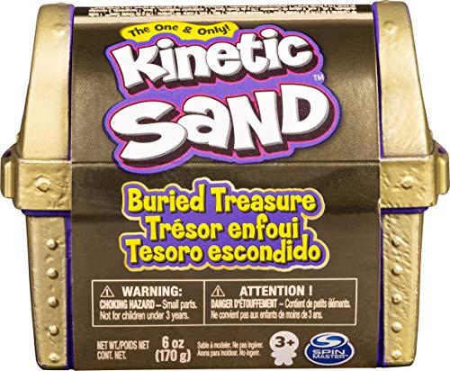 Kinetic Sand 6054831 – Juego del Tesoro enterrado con 170 g de Arena cinética y Herramienta Oculta Sorpresa (el Estilo Puede Variar)