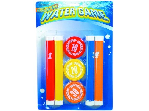 WDK Partner - Jeu de Plein Air - 4 bâtons/3 palets lestés pour piscine