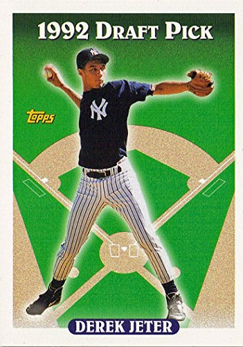 Topps 1993 98 Derek Jeter (RC) - New York Yankees - Rookie Baseball Card in Protective Display Case
