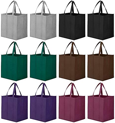 WiseLife Reusable Grocery Bags [ 12 Pack ],Large Foldable Shopping Bags Tote Bags,Eco-Friendly...