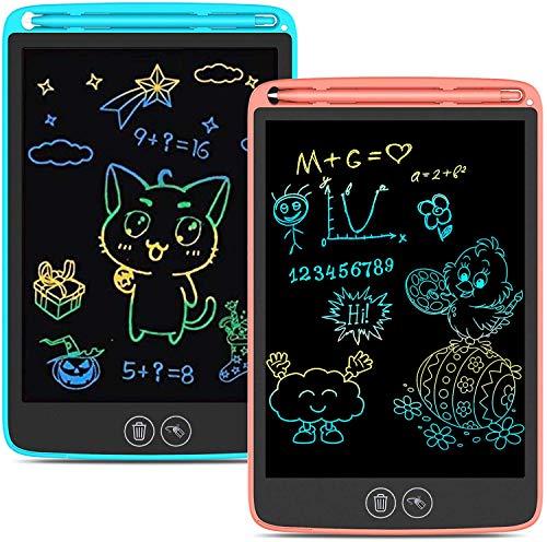Tavoletta Grafica LCD Scrittura con Display Colorato 10 Pollici,Schermo con Funzione di Cancellazione Completa e Parziale,Ewriter Portatile Digitale Regali per Bambini e Adulti(Rosa)
