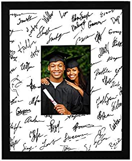 GGS 11x14 Classic Black Signature Picture Document Frame with Real Glass Mats for 5x7 Photo Graduation Wedding