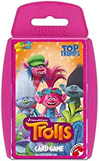 Holland Plastics Original Brand TOP Trumps - Trolls! Perfect for Indoors, Travelling, Camping and Holidays