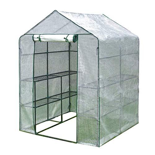 genral Invernadero portátil con puerta con cremallera, resistente, 3 niveles, 12 estantes, jardinería, para patio al aire libre, césped