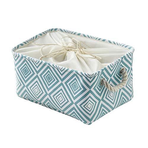 Generic Canevas boîte de Rangement en Tissu Jouet tiroir à vêtements Maison étudiant Bureau Drawstring Tension-B