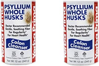 Yerba Prima Psyllium Whole Husks, 2 Count 12 OZ (340 G)