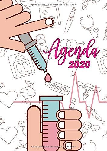 Agenda 2020: Tema Enfermera Medicina Agenda Mensual y...