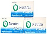HYPOALLERGENIC CLEAN NO CHEMICAL, COLOR, AROMA 3 PACK GRISI NEUTRAL SOAP BAR