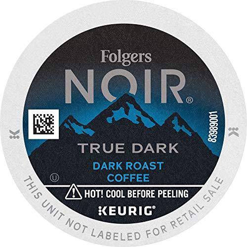Folgers Noir True Dark Dark Roast Coffee, 72 K Cups For Keurig Coffee Makers