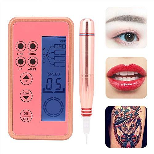 Digital Machine de Tatouage, Kit de tatouage de maquillage de lèvre de sourcil électrique Stylo de tatouage de ligne d'oeil de Microblading
