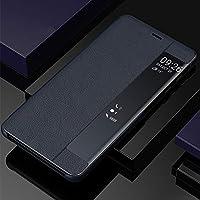Galaxy S9 Plusのケース,手帳型 ミラー おしゃれ 知能休眠 PUレザー 携帯ケース、衝撃吸収 キラキラ 人気 画面可視 全面保護 qi 充電 ワイヤレス充電 二層構造 フォリオ スタンド機能 フリップ カード収納 財布型カバー、かわいい 鏡メッキフリップ 耐衝撃 面白い 磁気防止カード 取り外し ポケット ハイブリッド メイクアップミラー ケース、耐汚れ 滑り防止 反塵 薄型 超軽量 磁性技術 カバー、by beautycatcher - 青