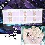 Pegatina de uñas,22tips / 2 Hojas de Adhesivos Impermeables para uñas, calcomanías para pies de Cubierta Completa, Adhesivos Adhesivos para uñas, D Z2