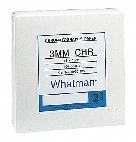 GE Whatman 3030-866 Grade 3MM Chr Cellulose Chromatography Paper Sheet, 8