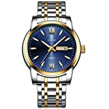 Orologio, orologio da uomo in acciaio inossidabile impermeabile con orologio da polso da uomo con finestra al quarzo analogico