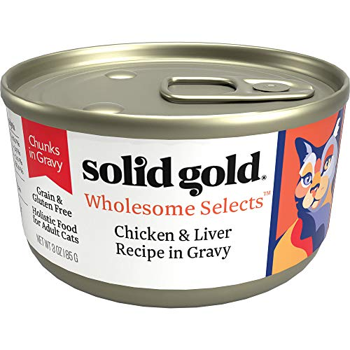 Solid Gold Chunks In Gravy Wet Cat Food; Wholesome Selects With Real Chicken Liver (Formally Dawn'S...