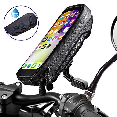 WACCET [Nouvelle génération] Support Telephone Moto Imperméable Support Smartphone Moto Etanche avec Rotation...