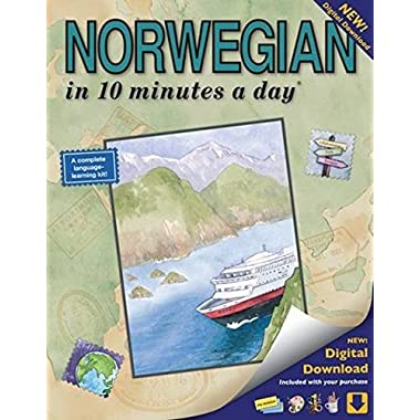 NORWEGIAN in 10 minutes a day: Language course for beginning and advanced study. Includes Workbook, Flash Cards, Sticky Labels, Menu Guide, Software. Grammar. Bilingual Books, Inc. (Publisher)