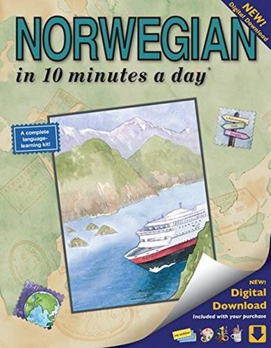 NORWEGIAN in 10 minutes a day: Language course for beginning and advanced study.  Includes Workbook, Flash Cards, Sticky Labels, Menu Guide, Software, ... Grammar.  Bilingual Books, Inc. (Publisher)