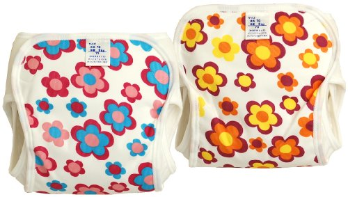 村信 日本製 2枚組 花柄 おむつカバー 90cm JF207B