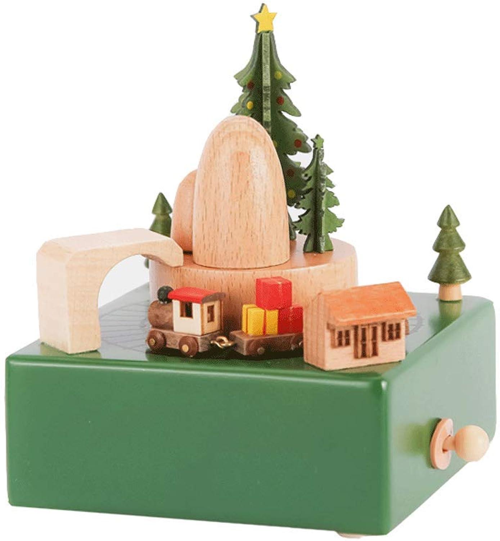 Hlzerne Spieluhr Spieluhr Weihnachtsspieluhrgeschenk (Farbe   C)