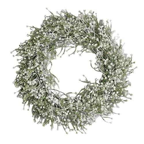 Alician Artificial Babysbreath Wreath Garland for Party Weddings Front Door Decoration Home Decor Supplies