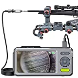 Teslong Rigid Rifle Borescope with 5' Monitor, Bore Inspection Camera Visual Gun Cleaning System-Fits .20 Caliber & Larger-w/26-inch Long Insertion Tube, 5-inch IPS Screen, Right Angle Mirror