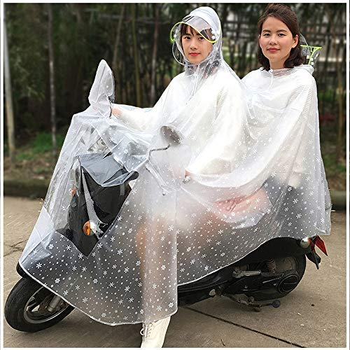 Geyao Impermeable Batería Coche Doble Madre e Hijo Adulto Montar Impermeable Incremento...