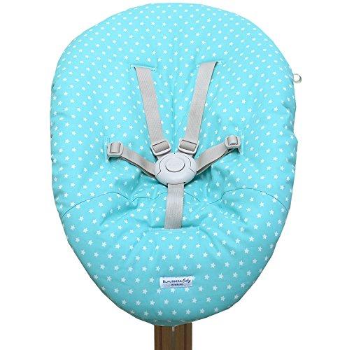 Blausberg Baby - Bezug für Babywippe Nomi Hochstuhl von Evomove - Türkis Stern