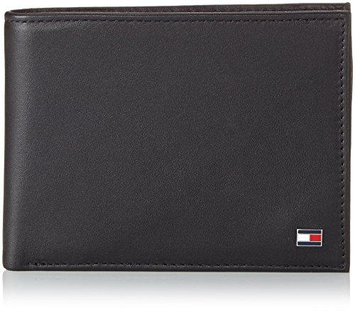 Tommy Hilfiger Eton CC And Coin Pocket, Portafoglio Uomo, Nero (Schwarz (Black 990), 13x10x2 cm (B x H x T)