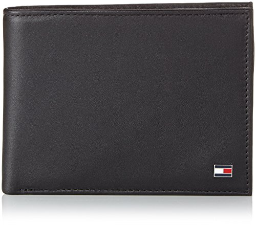 Tommy Hilfiger Herren ETON CC AND COIN POCKET Geldbörsen, Schwarz (BLACK 990), 13x10x2 cm