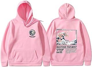 MU-PPX Otoño Invierno Sudaderas con Capucha Gato Divertido Sudadera Hip Hop Streetwear Sudaderas con Capucha Hombres Mujeres