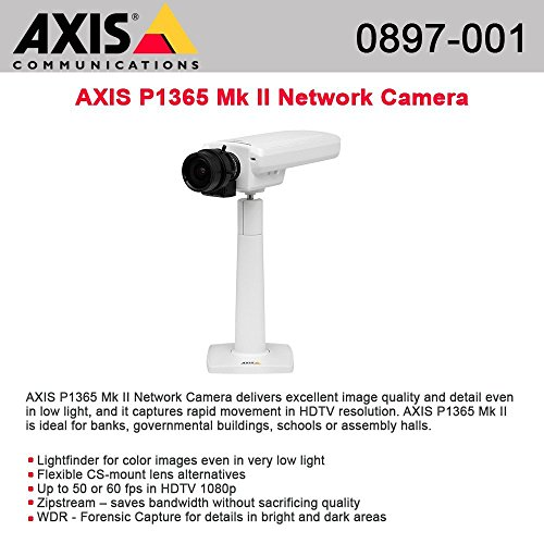 Fantastic Deal! AXIS Communications 0897-001 P1365 Mkii 1080P Fixed