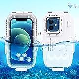 PULUZ - Funda para iPhone 12 mini, funda profesional para fotografía subacuática [40 m/131 pies], buceo, surf, natación, esnórquel, fotografía subacuática, carcasa para iPhone 12 mini