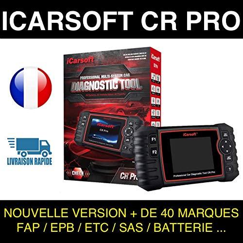 Icarsoft CR Pro - Maleta de diagnóstico para coche, multimarca OBD2 100% francesa