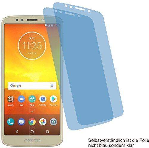 4ProTec I 2X Crystal Clear klar Schutzfolie für Motorola Moto E5 Bildschirmschutzfolie Displayschutzfolie Schutzhülle Bildschirmschutz Bildschirmfolie Folie