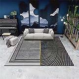 Alfombras Salon Rectangular Lavable Carpet Antideslizantes Modernos Nordica Patrones GeoméTricos Alfombra Pasillo Jardin Cocina Comedor Habitacion Dormitorio Moqueta Multicolor (HQR1-1) 200*300cm