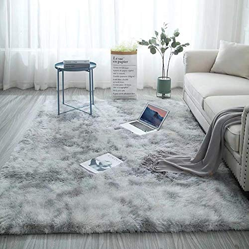 Grey Carpet Tie Dyeing Plush Soft Carpets For Living Room Bedroom Anti-slip Floor Mats Bedroom Water Absorption Carpet Rugs-50x160cm_SPAIN_style1
