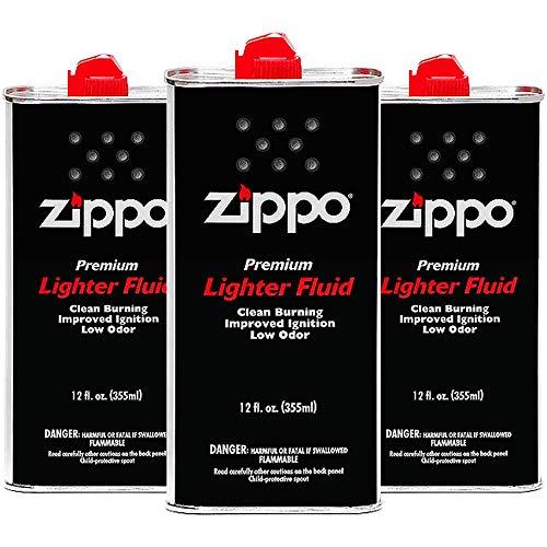 Zippo Premium Lighter Fluid, 12-Ounces, 3-Pack