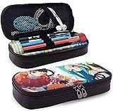 Estuche para lápices Gran capacidad Bolígrafo de almacenamiento Estuche para lápices Organizador de escritorio Soporte para bolsa portátil con cremallera - Bakemonogatari Oshino Shinobu y Ononoki