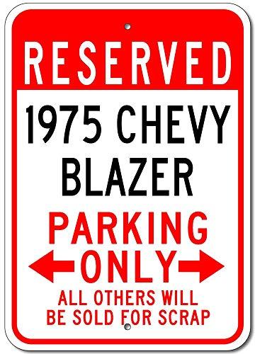 1975 Chevy Blazer Praking, only wandteken creativiteit gepersonaliseerde metalen plak kunst vintage decoratie blad handwerk hangende poster cafe bar garage
