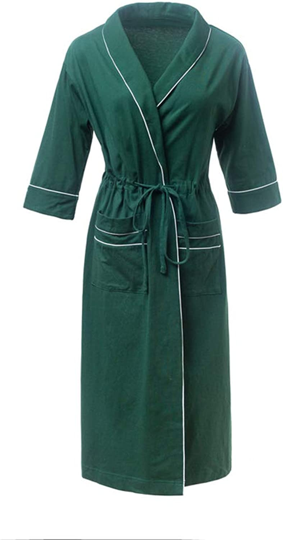 Bathrobe Dressing Gowns Shawl Bath Robe Bath Wrap Bathrobe Pajamas Home Wearable   Female   Green (Size   S)