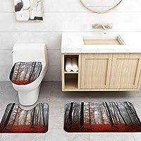 ZGDPBYF 浴室用アップホームバスマットゴシックランドスケープレッドメープルリーフプリントバスマットシャワーフロア用カーペットバスタブマット
